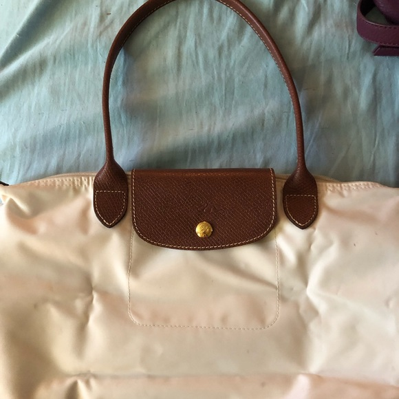 Longchamp Handbags - Longchamp Le Pliage small ivory